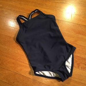 Hanna Andersson navy blue one piece swimsuit